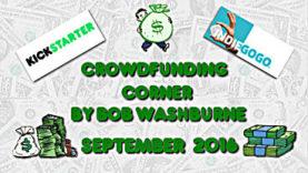 Crowdfunding Corner - September 2016