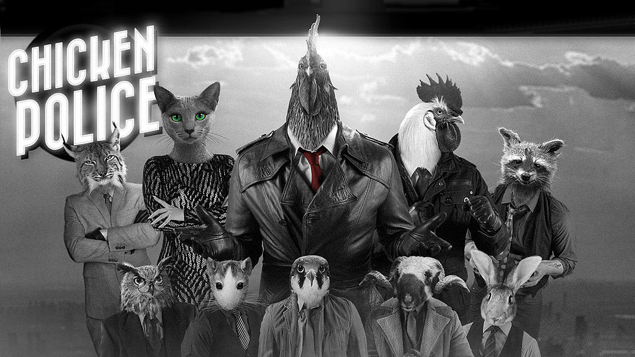 Animal Noir Adventure Chicken Police is Headed Our Way